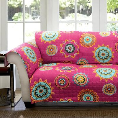 Mandy Box Cushion Loveseat Slipcover