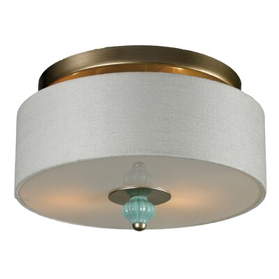 Dormer 2-Light Flush Mount