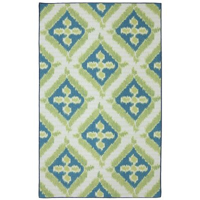 Khtoura Green Indoor/Outdoor Area Rug Rug Size: 7'6