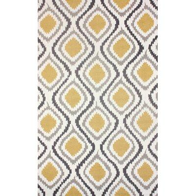 Garrard Hand-Woven Yellow Area Rug Rug Size: 86 x 116