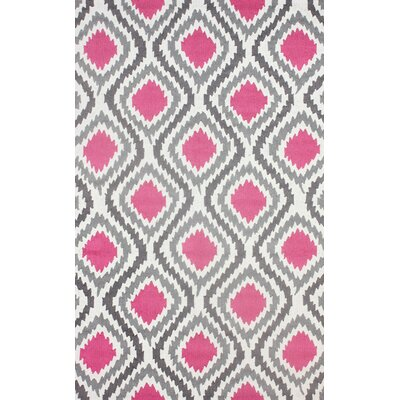 Garrard Hand-Hooked Pink Area Rug Rug Size: Rectangle 5 x 8
