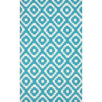 Lamasar Blue/White Area Rug Rug Size: 5 x 8