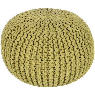 Grimes Pouf Ottoman Upholstery: Moss