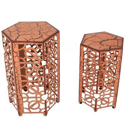 2 Piece Nesting Tables Finish: Antique Orange