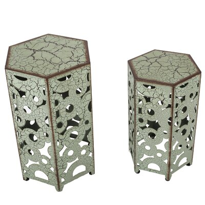 2 Piece Nesting Tables Finish: Antique Green