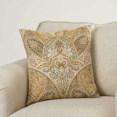 Madarisse Paisley Throw Pillow Color: Sandstone, Size: 20 x 20