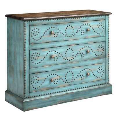 Ghandour 3 Drawer Accent Chest Finish: Turquoise