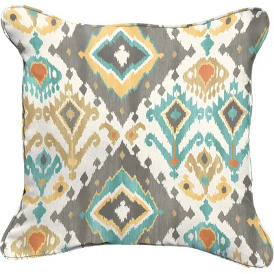 Camille Square Indoor/Outdoor Throw Pillow Size: 18 H x 18 W, Color: Blue / Grey