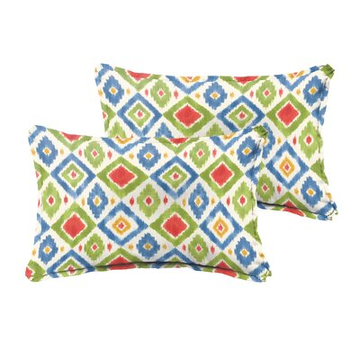 Socoma Outdoor Lumbar Pillow Size: 12 x 24, Color: Red / Green / Blue