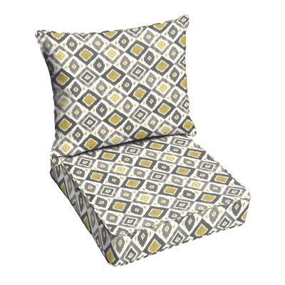 Socoma Indoor/Outdoor Lounge Chair Cushion Color: Gold