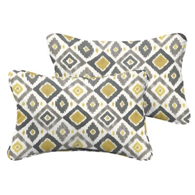 Socoma Indoor/Outdoor Lumbar Pillow Set Size: 12 H x 24 W x 5 D, Color: Gold
