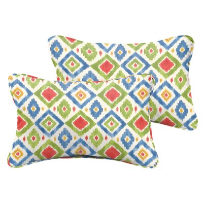 Socoma Indoor/Outdoor Lumbar Pillow Set Size: 13 H x 20 W x 5 D, Color: Red