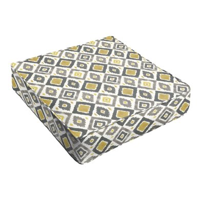 Socoma Indoor/Outdoor Ottoman Cushion Fabric: Gold