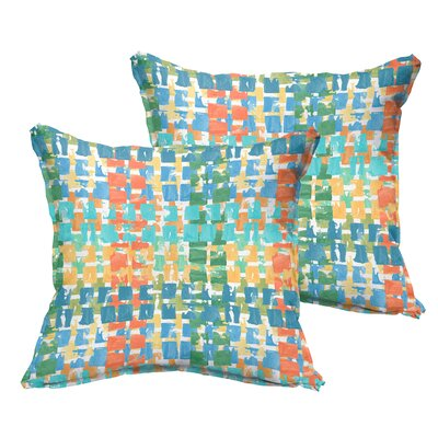Momea Flange Indoor/Outdoor Throw Pillow Size: 18 x 18