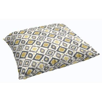 Socoma Corded Indoor/Outdoor Floor Pillow Color: Gold/Grey