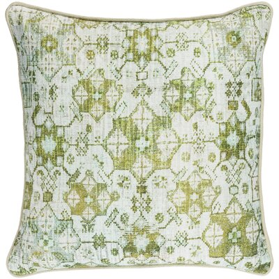 Gardner Cotton Pillow Cover Size: 20 H x 20 W x 1 D, Color: Green