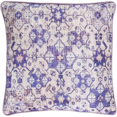Gardner Cotton Pillow Cover Size: 20 H x 20 W x 1 D, Color: Pink/Purple