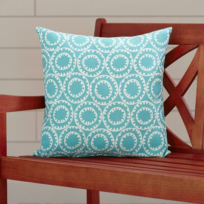 Ziraoui Outdoor Throw Pillow Color: Aqua