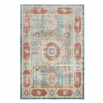 Thanh Blue Area Rug Rug Size: 6 x 9
