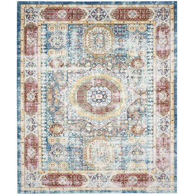 Thanh Blue Area Rug Rug Size: 8' x 10'