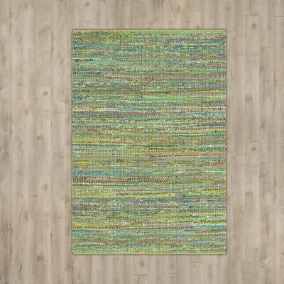 Anaheim Hand-Tufted Green Area Rug Rug Size: Rectangle 5 x 8