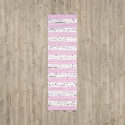 Figuig Ivory / Light Pink Area Rug Rug Size: Runner 23 x 7