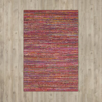 Anaheim Tufted Cotton Red Area Rug Rug Size: Rectangle 4 x 6