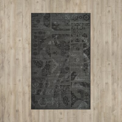 Chipping Ongar Black / Grey Area Rug Rug Size: Rectangle 5 x 8