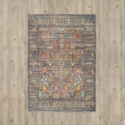 Bernardyn Gray/Multi Area Rug Rug Size: Rectangle 9 x 12