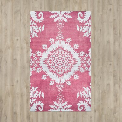 Moulouya Hand-Knotted Pink Area Rug Rug Size: Large Rectangle 8 x 10