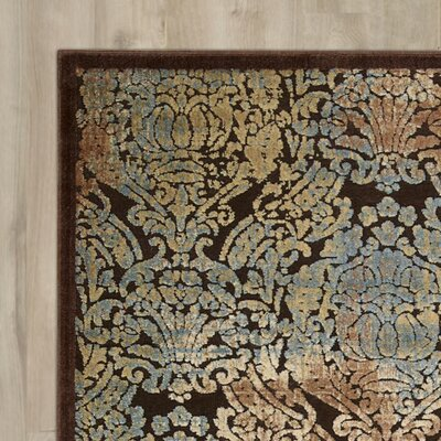 Vucciria Chocolate Area Rug Rug Size: Rectangle 36 x 56