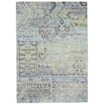Mint/Taupe Area Rug Rug Size: 22 x 4