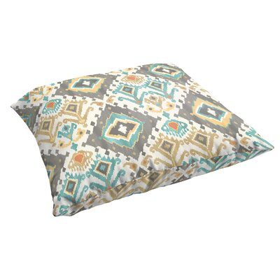 Cecelia Corded Indoor/Outdoor Floor Pillow Color: Grey/Green