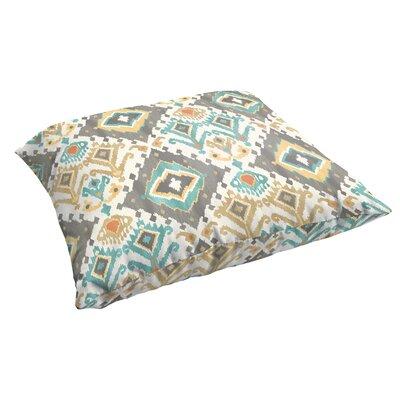 Briget Corded Indoor/Outdoor Floor Pillow Color: Grey/Green