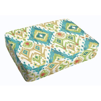 Cecelia Corded Indoor/Outdoor Floor Cushion Color: Blue/Green