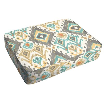 Cecelia Corded Indoor/Outdoor Floor Cushion Color: Grey/Green