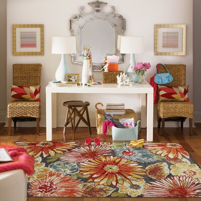 Kamberk Multicolored Area Rug Rug Size: Rectangle 76 x 10