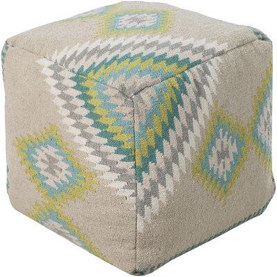 Aahana Pouf Ottoman Upholstery: Beige