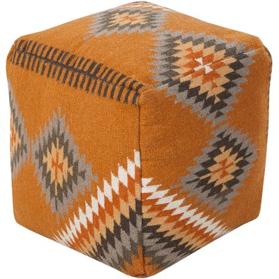 Aahana Pouf Upholstery: Orange