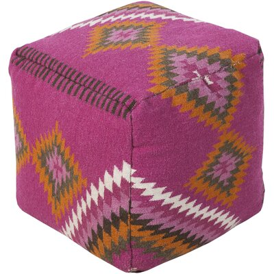 Aahana Pouf Ottoman Upholstery: Plum