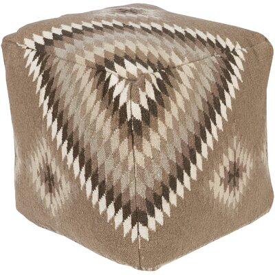 Aahana Pouf Ottoman Upholstery: Gray