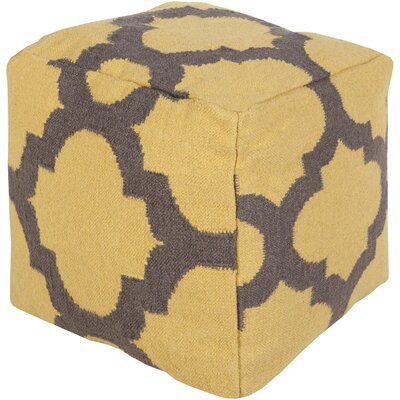 Aalia Pouf Upholstery: Golden Yellow / Pewter