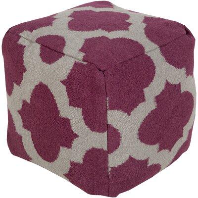 Aalia Pouf Upholstery: Raspberry Wine / Gray