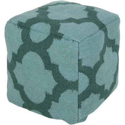 Aalia Pouf Upholstery: Teal Green / Sea Blue