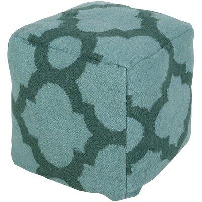 Aalia Pouf Ottoman Upholstery: Teal Green / Sea Blue