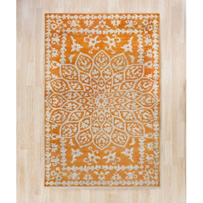 Marmont Orange Area Rug Rug Size: Square 6