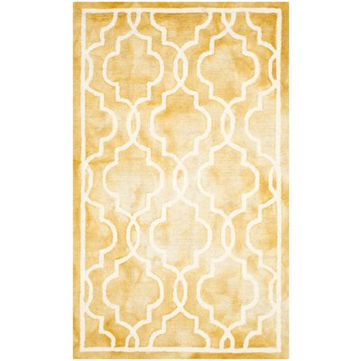 Firestone Hand-Tufted Dip Dye Gold/Ivory Area Rug