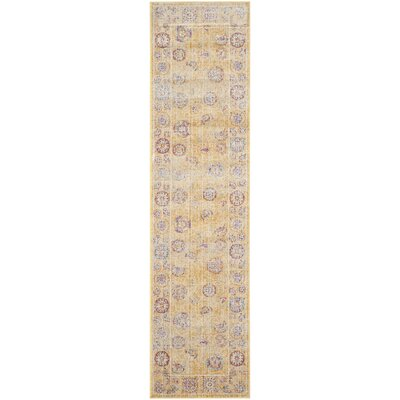 Gold Area Rug Rug Size: Runner 21 x 8