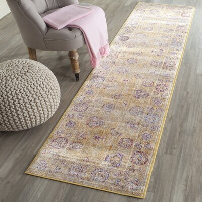 Shelby Gold Area Rug Rug Size: Runner 21 x 8