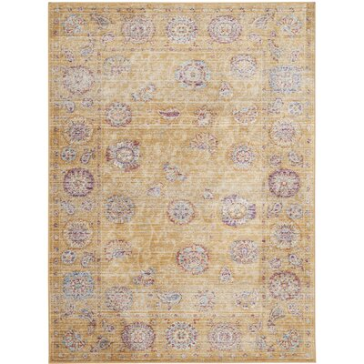 Shelby Gold Area Rug Rug Size: Rectangle 96 x 13